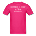 Load image into Gallery viewer, Highest Form of Worship Unisex T-Shirt - fuchsia