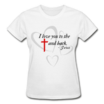 Load image into Gallery viewer, To the Cross and Back Ladies T-Shirt - white