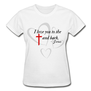 To the Cross and Back Ladies T-Shirt - white
