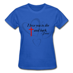 Load image into Gallery viewer, To the Cross and Back Ladies T-Shirt - royal blue