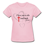 Load image into Gallery viewer, To the Cross and Back Ladies T-Shirt - light pink