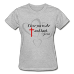 Load image into Gallery viewer, To the Cross and Back Ladies T-Shirt - heather gray