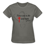 Load image into Gallery viewer, To the Cross and Back Ladies T-Shirt - charcoal