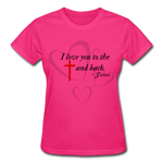Load image into Gallery viewer, To the Cross and Back Ladies T-Shirt - fuchsia
