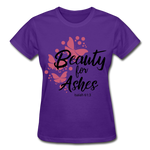 Load image into Gallery viewer, Beauty for Ashes Ladies T-Shirt - purple