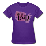 Load image into Gallery viewer, You are Loved Ladies T-Shirt - purple