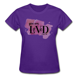 You are Loved Ladies T-Shirt - purple