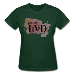 Load image into Gallery viewer, You are Loved Ladies T-Shirt - forest green