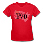 Load image into Gallery viewer, You are Loved Ladies T-Shirt - red