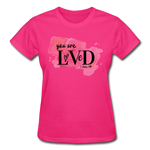 Load image into Gallery viewer, You are Loved Ladies T-Shirt - fuchsia