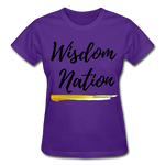 Load image into Gallery viewer, Wisdom Nation Ladies T-Shirt - purple