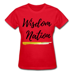 Load image into Gallery viewer, Wisdom Nation Ladies T-Shirt - red