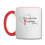 Load image into Gallery viewer, Cross and Back Coffee Mug - white/red