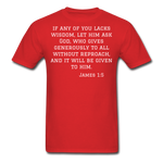 Load image into Gallery viewer, Wisdom Men's T-Shirt - red