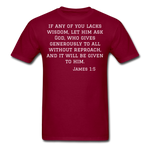 Load image into Gallery viewer, Wisdom Men's T-Shirt - burgundy