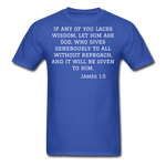 Load image into Gallery viewer, Wisdom Men's T-Shirt - royal blue