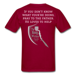 Load image into Gallery viewer, Wisdom Men's T-Shirt - dark red