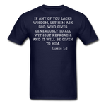 Load image into Gallery viewer, Wisdom Men's T-Shirt - navy