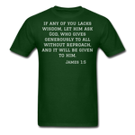 Load image into Gallery viewer, Wisdom Men's T-Shirt - forest green