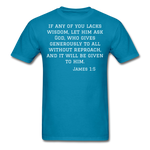 Load image into Gallery viewer, Wisdom Men's T-Shirt - turquoise