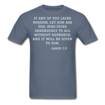 Load image into Gallery viewer, Wisdom Men's T-Shirt - denim
