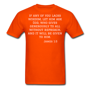 Wisdom Men's T-Shirt - orange