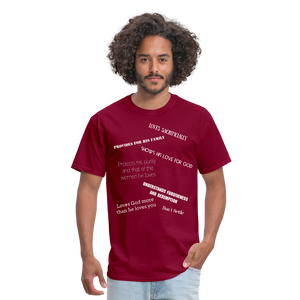 Men's T-Shirt - burgundy