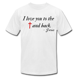Load image into Gallery viewer, To the Cross & Back Unisex T-shirt - white