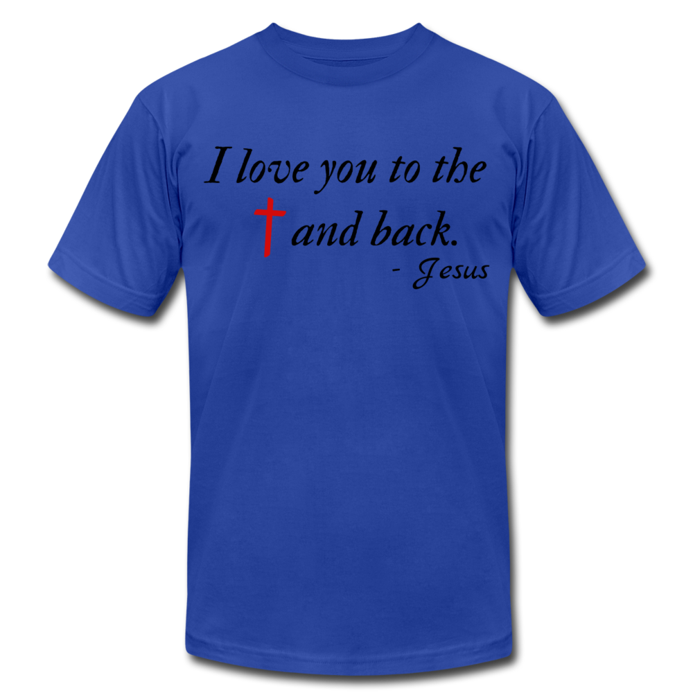 To the Cross & Back Unisex T-shirt - royal blue