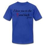 Load image into Gallery viewer, To the Cross & Back Unisex T-shirt - royal blue
