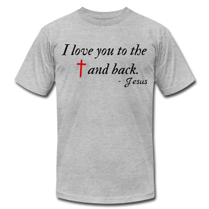 To the Cross & Back Unisex T-shirt - heather gray