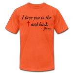 Load image into Gallery viewer, To the Cross & Back Unisex T-shirt - orange