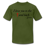 Load image into Gallery viewer, To the Cross & Back Unisex T-shirt - olive
