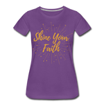 Load image into Gallery viewer, Shine Your Faith Women's T-Shirt - purple