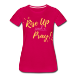Load image into Gallery viewer, Rise Up Women's T-Shirt - dark pink