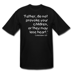 Load image into Gallery viewer, Father Don't Provoke Men's Tall T-Shirt - black