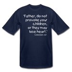 Load image into Gallery viewer, Father Don't Provoke Men's Tall T-Shirt - navy