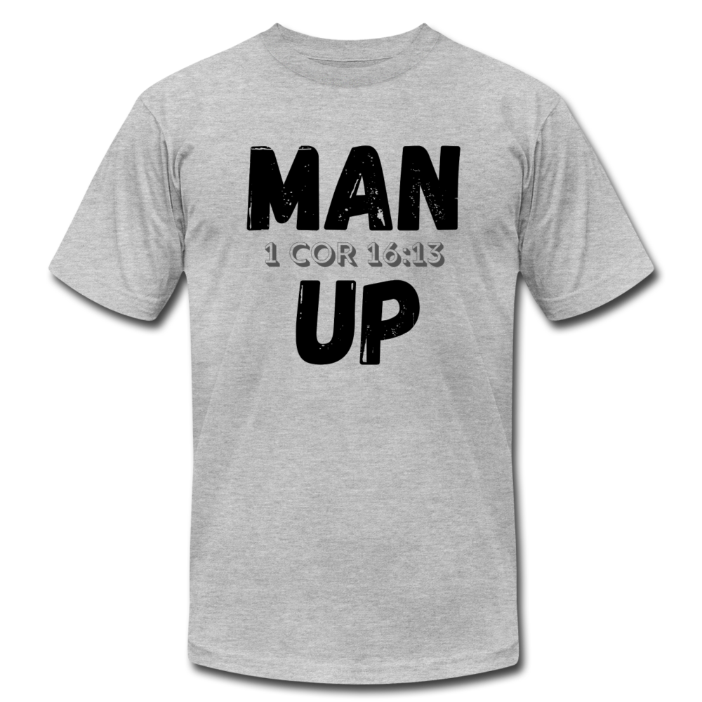 Man Up Jersey Men's T-shirt - heather gray