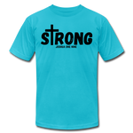 Load image into Gallery viewer, Strong Jersey Men's T-shirt - turquoise