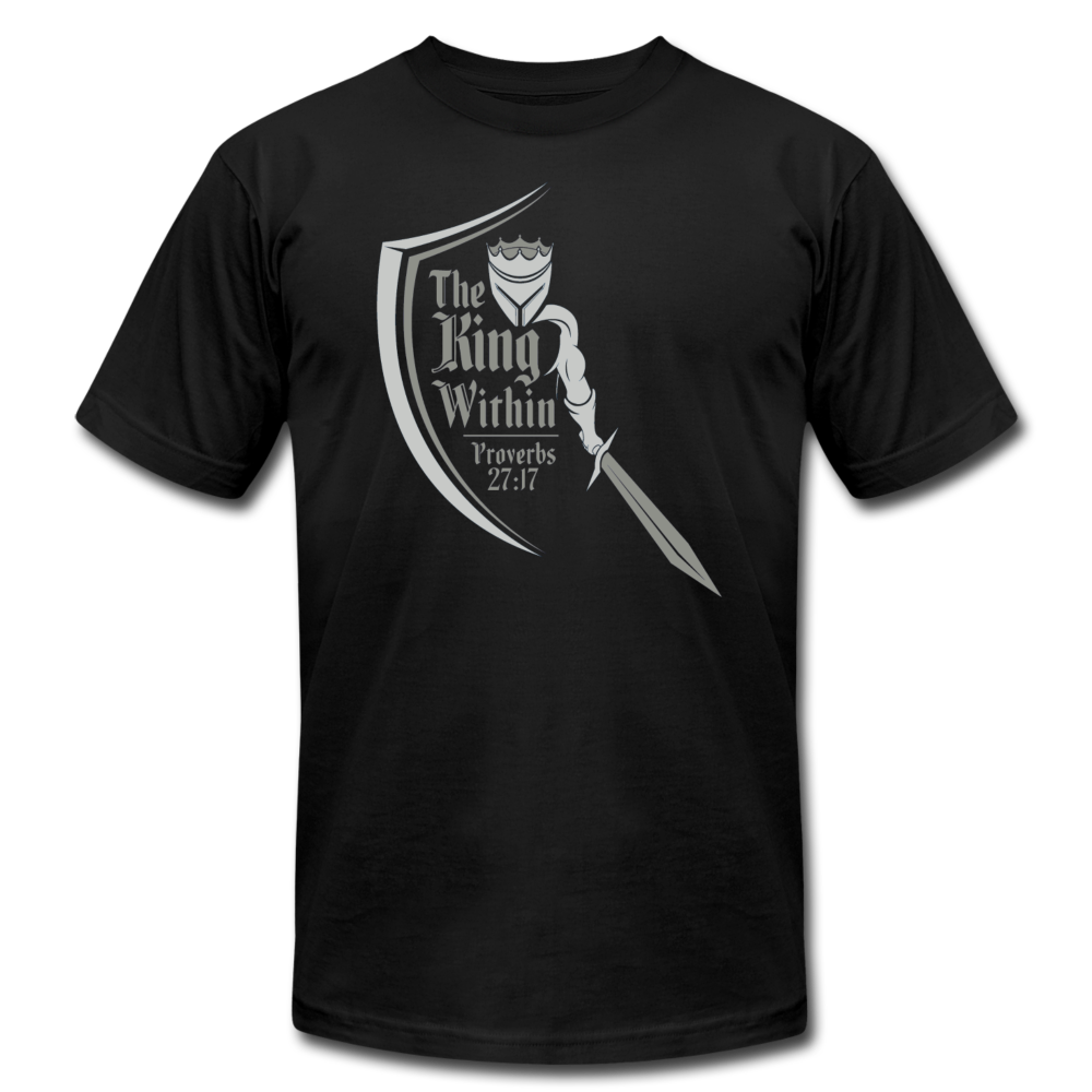 Prov 27:17 Men's T-Shirt - black