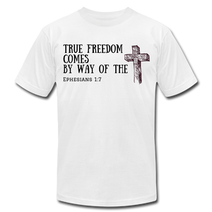 True Freedom Men's T-Shirt - white