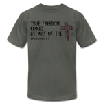 Load image into Gallery viewer, True Freedom Men's T-Shirt - asphalt
