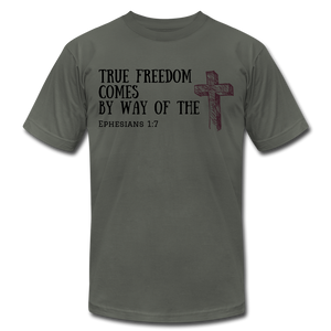 True Freedom Men's T-Shirt - asphalt