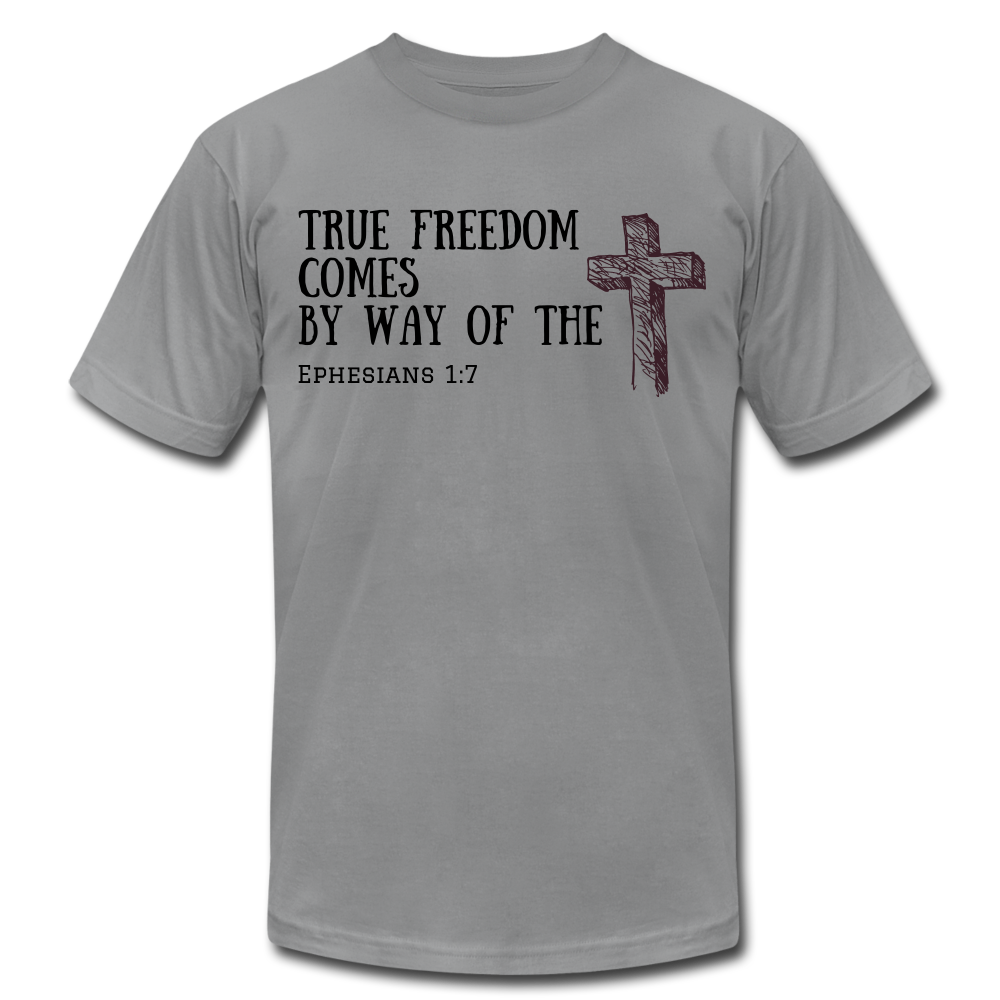True Freedom Men's T-Shirt - slate