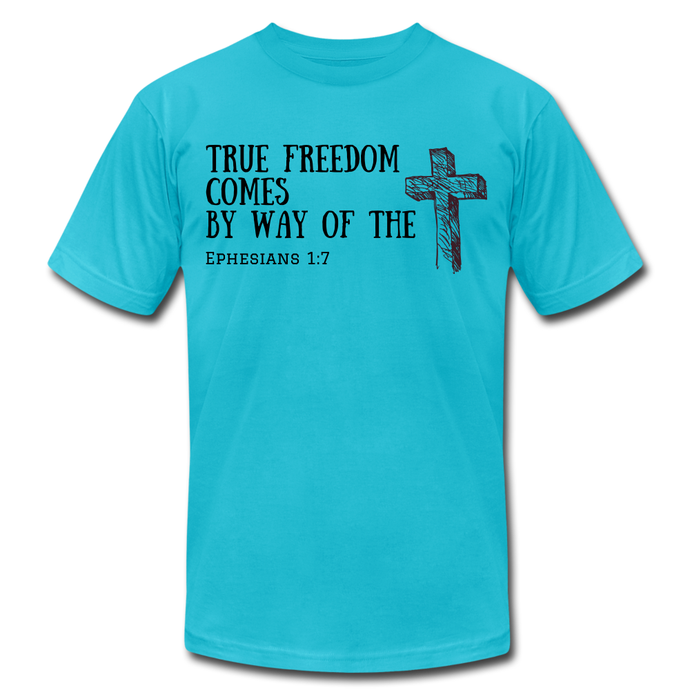 True Freedom Men's T-Shirt - turquoise