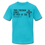 Load image into Gallery viewer, True Freedom Men's T-Shirt - turquoise