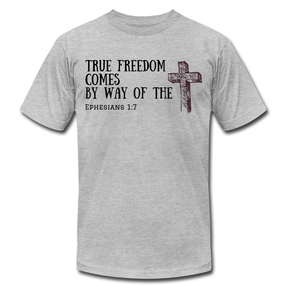 True Freedom Men's T-Shirt - heather gray