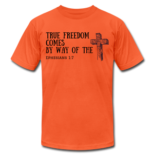 True Freedom Men's T-Shirt - orange