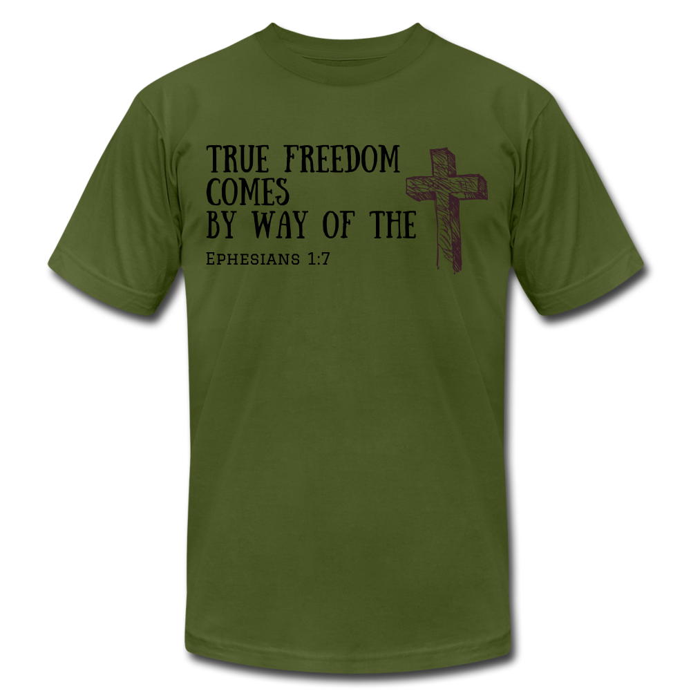 True Freedom Men's T-Shirt - olive