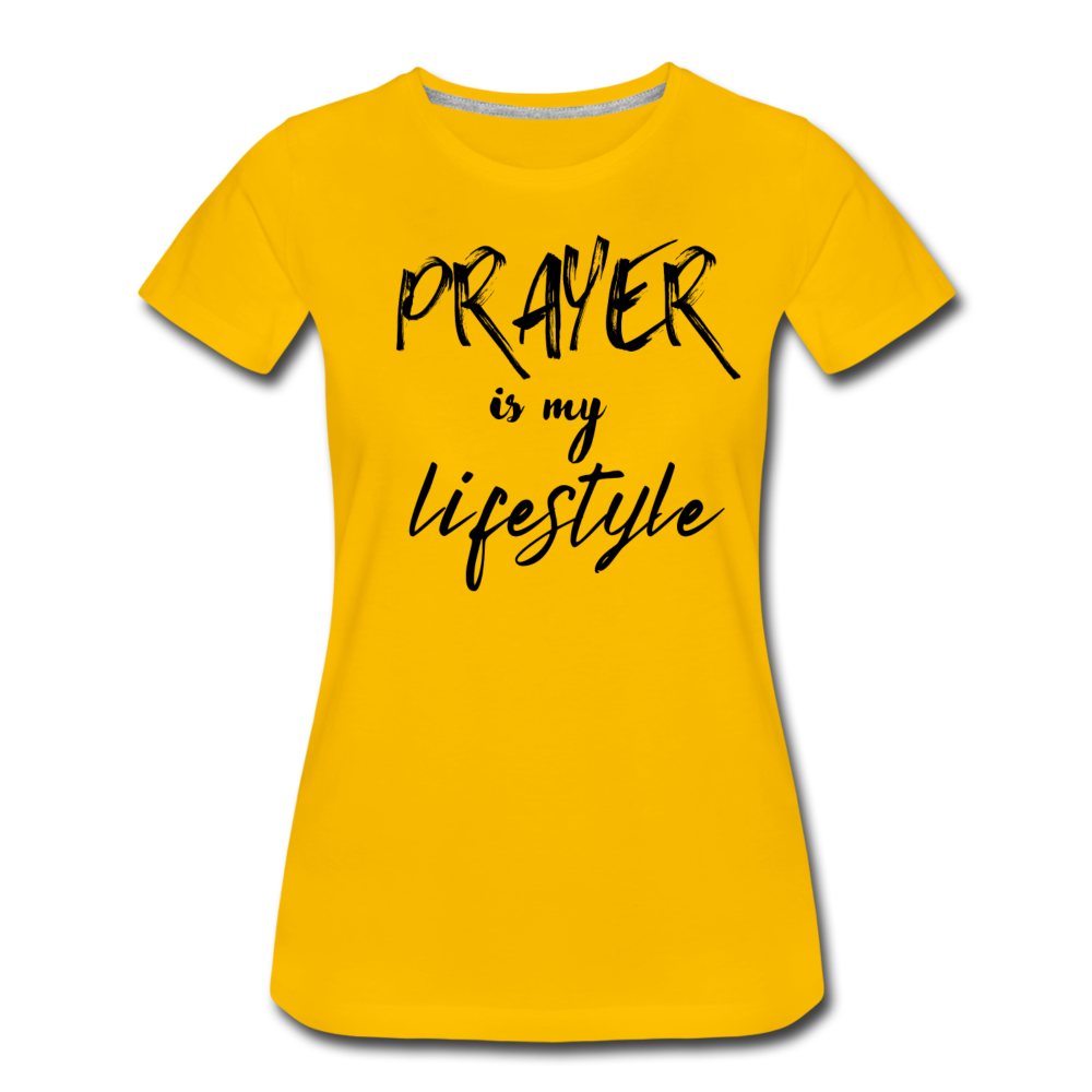 Prayer Women's T-Shirt - sun yellow